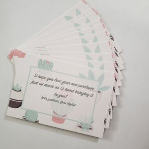 25 4x6 Card stock succulents Thank you cards